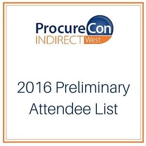 ProcureCon West 2016 Attendee List