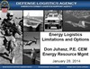 Energy Logistics Limitations and Options