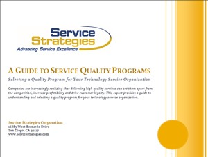 A GUIDE TO SERVICE QUALITY PROGRAMS