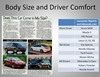 Seat Design and Driver Comfort