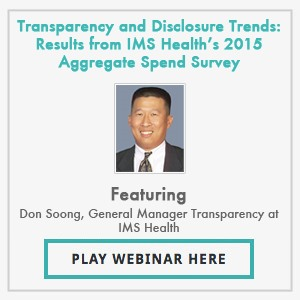 Transparency and Disclosure Trends: Results from IMS Health's 2015 Aggregate Spend Survey