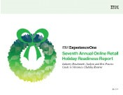 2014 US Annual Online Retail Holiday Readiness Report