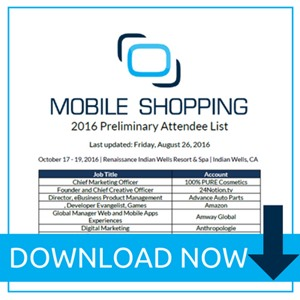 Mobile Shopping 2016 Attendee List