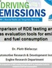 Presentation on the comparison of RDE testing and the WLTP as evaluation tools for emissions and fuel consumption