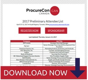 ProcureCon Canada 2017 Updated Attendee List