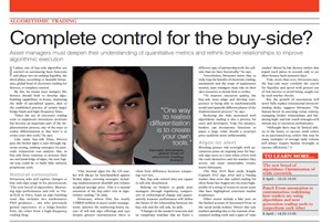 Complete control for the buy-side?