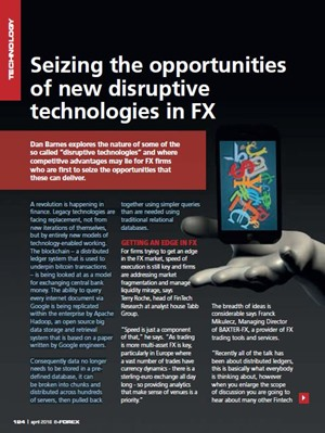 Seizing The Opportunities Of New Disruptive Technologies In FX
