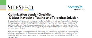 12 Must Haves in Testing and Targeting a Solution