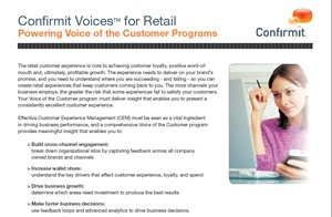 Powering the Voice of the Customer Programs