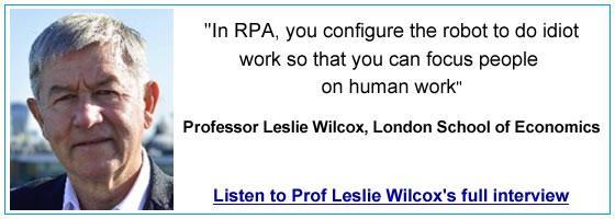 Prof Leslie Wilcox quote