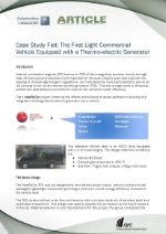 Thermoelectric Generator Case Study - Fiat