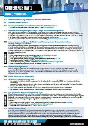 Facades Qatar - Agenda at a glance