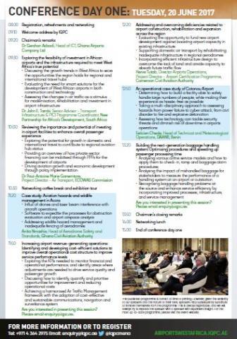 WAMA - Agenda at a glance