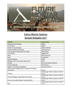 Sample del list mortars 2017