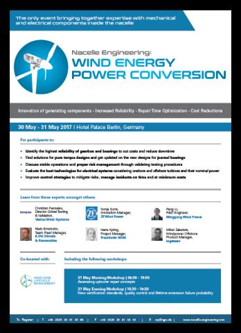 Wind Energy Power Conversion Agenda 2017