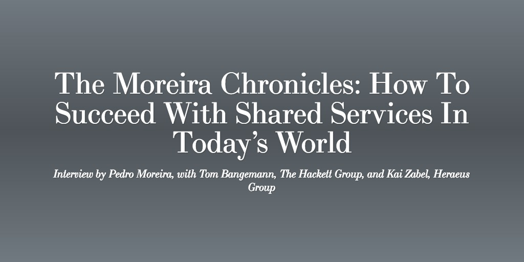 How To Succeed With Shared Services In Today's World