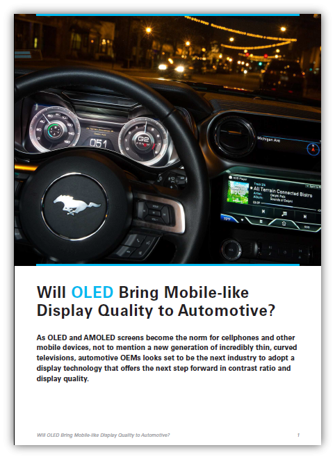 OLED for auto