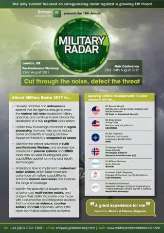 Military Radar 2017 Agenda