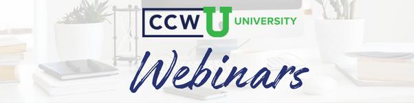 CCWU Webinars Banner