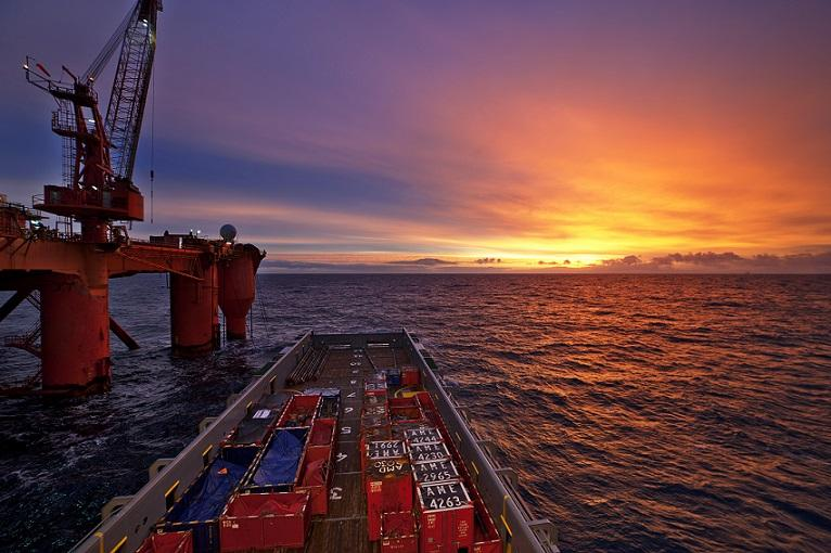 oil and gas sunset