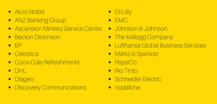 Top 20 most admired shared services organisations